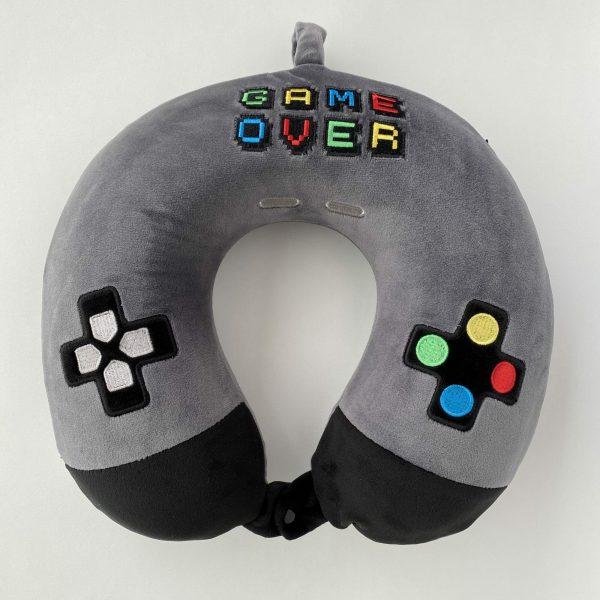 Almohada de viaje viscoeslástica con dibujos de mandos Gamer