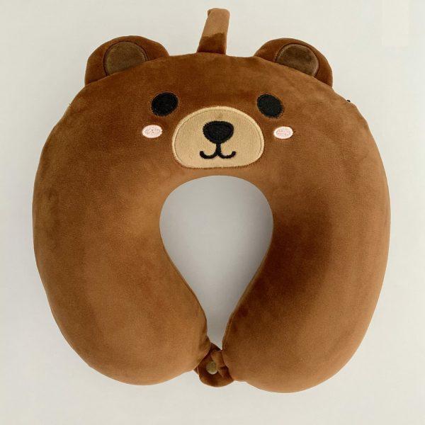 Almohada de viaje para niños con forma de oso