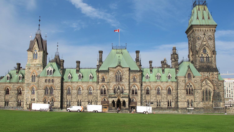 Vista del Parlamento de Ottawa en Canadá