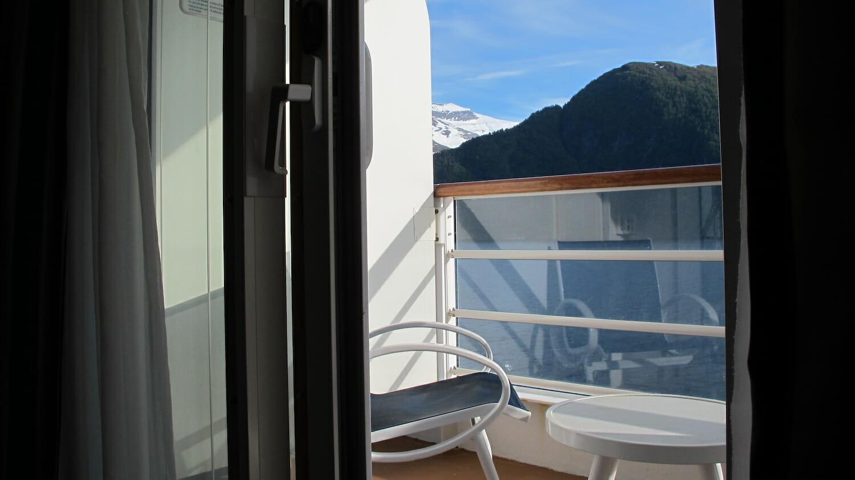 Terraza del camarote con Verandah del Crucero Disney
