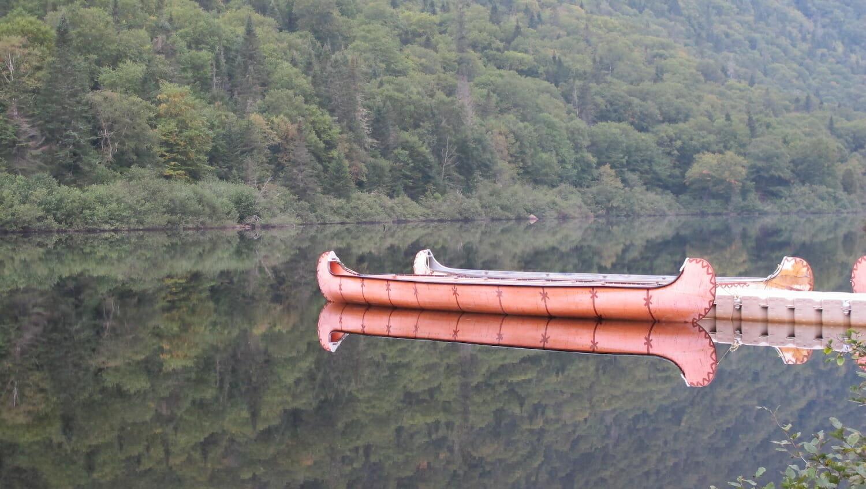 Canoas en el Parque Nacional Jacques Cartier