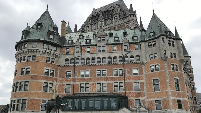 Fachada del hotel Frontenac de Quebec