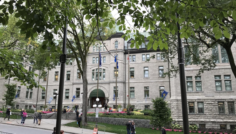 Edificio del Ayuntamiento en la Haute Ville Quebec
