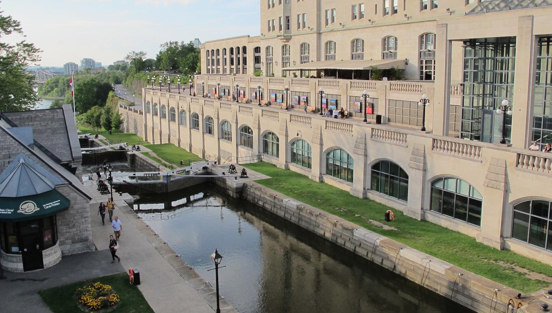 Exclusas del Canal Rideau en Ottawa