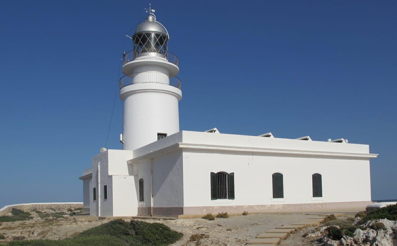 Imagen del Faro de Caballería en Menorca