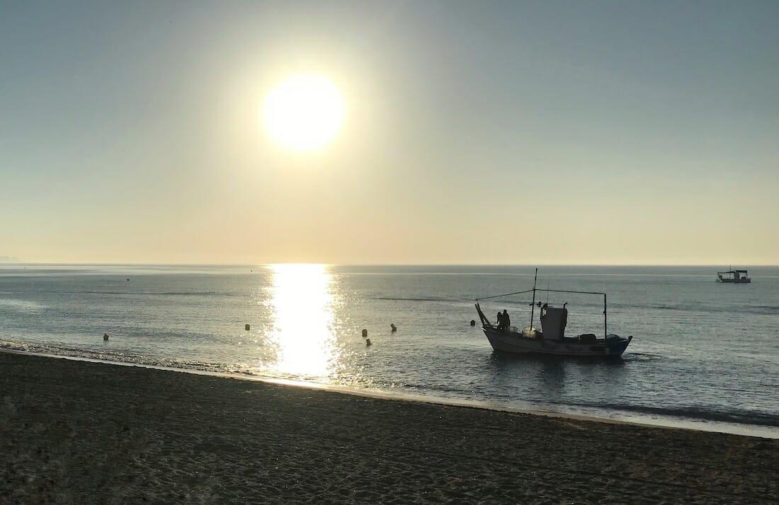Barco de pesca en Fuengirola