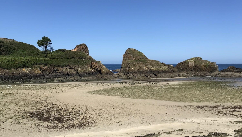 Playa del Norte con marea baja