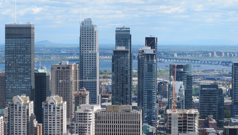 Vista de Montreal desde Mount Royal