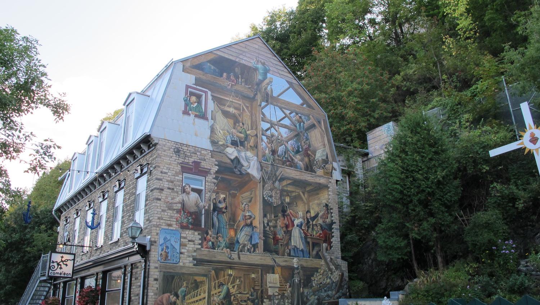 Mural Fresque du Petite Champlain de Quebec