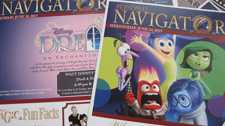 Programación diaria de actividades en el Navigator