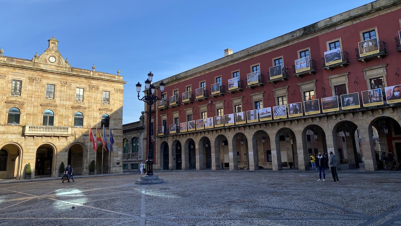 Vista de la Plaza Mayor de Gijón