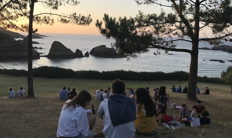 Atardecer en la playa de Porcía Asturias